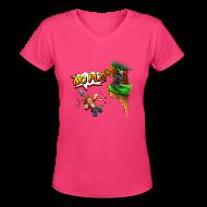 Women's T-Shirts ~ Women's V-Neck T-Shirt ~ No Plz T-Shirt (F)