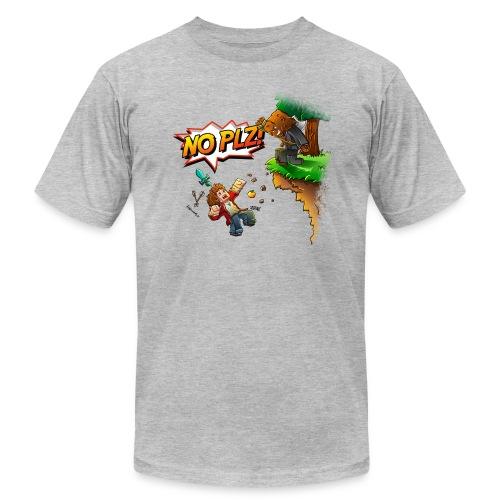No Plz T-Shirt by American Apparel (M) - Men's Fine Jersey T-Shirt