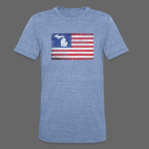 Mitten Flag - Unisex Tri-Blend T-Shirt by American Apparel