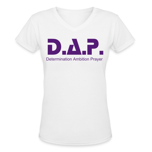 ladies purple - Women's V-Neck T-Shirt