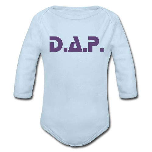 ki's Blue - Organic Long Sleeve Baby Bodysuit