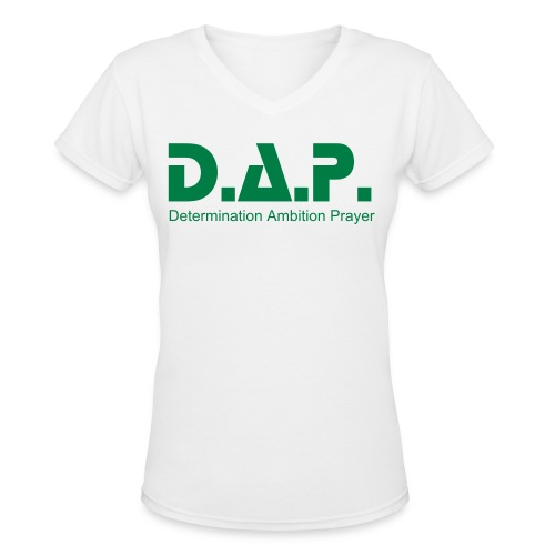 ladiesgreen - Women's V-Neck T-Shirt