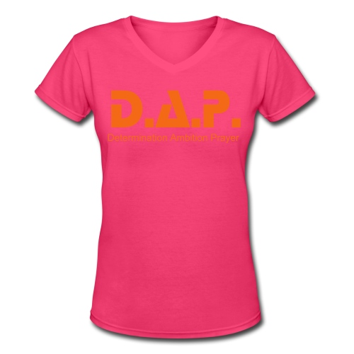 ladies orange - Women's V-Neck T-Shirt