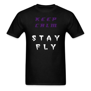 keep Calm Stay Fly Grape 5s - Men's T-Shirt