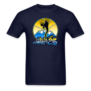 Denver - Blue and Yellow - Mens - Men's T-Shirt