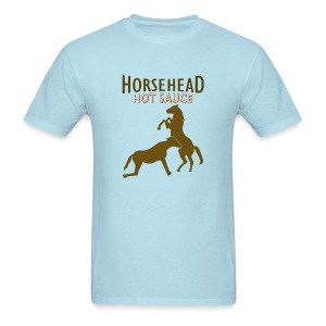 Horsehead Hot Sauce (Blue) - Men's T-Shirt