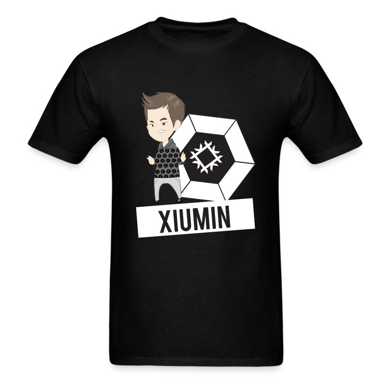 EXO - Chibi Xiumin (For Dark Shirts) [Men's Shirt] - Men's T-Shirt