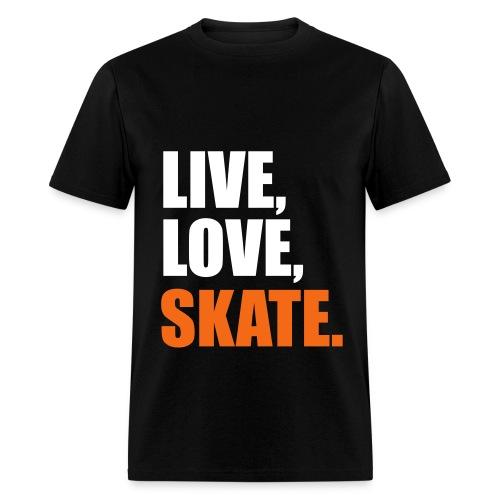 live love skate - Men's T-Shirt