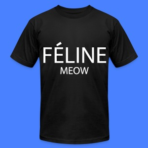 Feline Meow T-Shirts - Men's T-Shirt by American Apparel