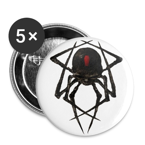 Black widow buttons - Large Buttons