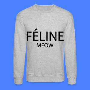 Feline Meow Long Sleeve Shirts - Crewneck Sweatshirt