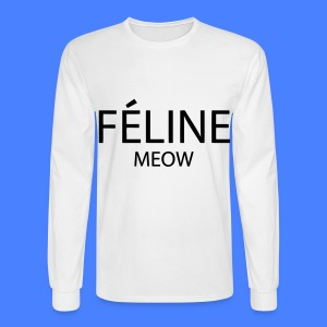 Feline Meow Long Sleeve Shirts - Men's Long Sleeve T-Shirt