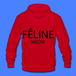 Feline Meow Zip Hoodies/Jackets - Unisex Fleece Zip Hoodie by American Apparel