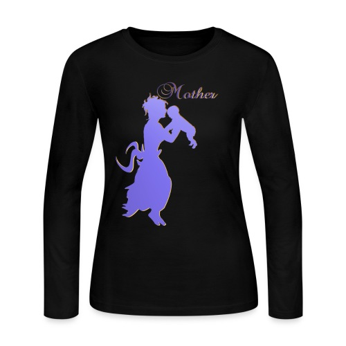 Mother-silhouette - Women's Long Sleeve Jersey T-Shirt