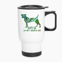 DOG IS MY COPILOT Bottles & Mugs
