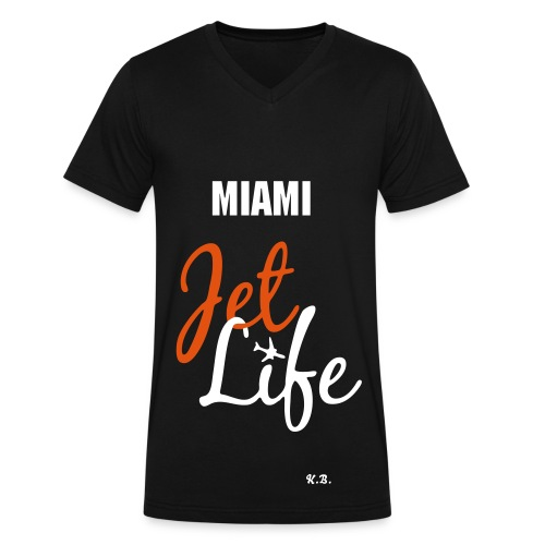 MIAMI JET LIFE SPECIAL EDITION SHIRT - Men's V-Neck T-Shirt by Canvas