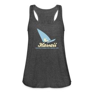 Wind Surfer on Flowy Tank - Women's Flowy Tank Top by Bella