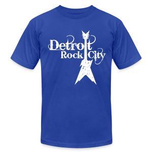 DETROIT ROCK CITY white - Men's T-Shirt by American Apparel