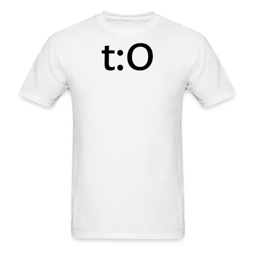 t:O for manly men. (white) - Men's T-Shirt