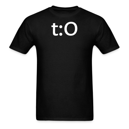 t:O for manly men. (black) - Men's T-Shirt
