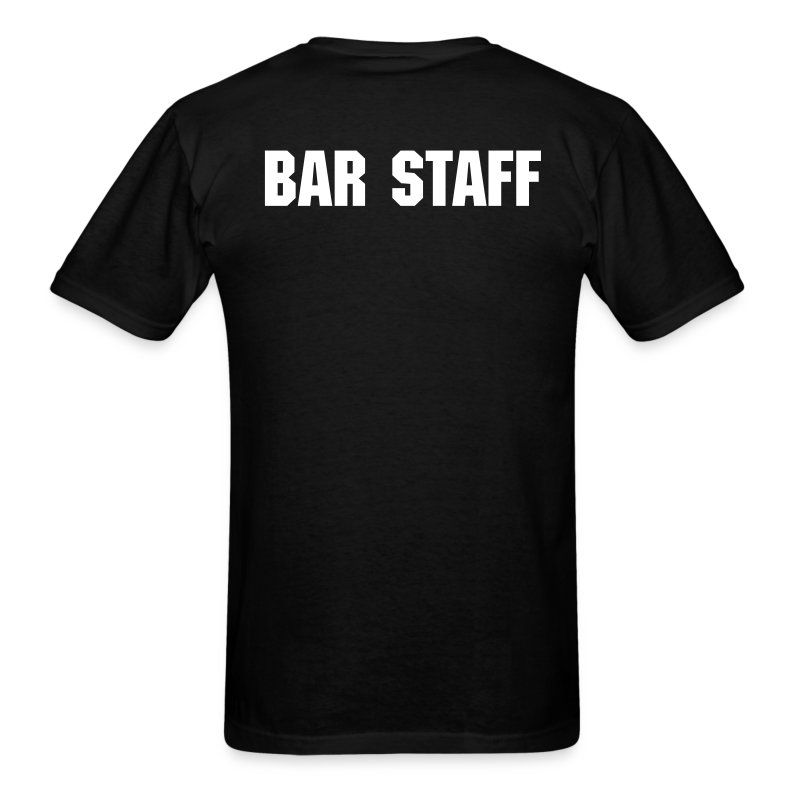 Double-Sided TheMetalBIkini.com Bar Staff T-Shirt - Men's T-Shirt