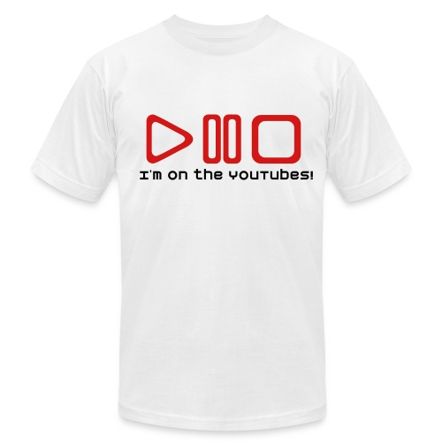I'm on the YouTubes!  - Men's  Jersey T-Shirt