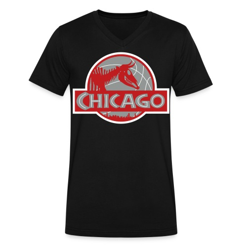 Chi-Bulls - Men's V-Neck T-Shirt by Canvas