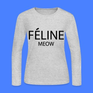 Feline Meow Long Sleeve Shirts - Women's Long Sleeve Jersey T-Shirt