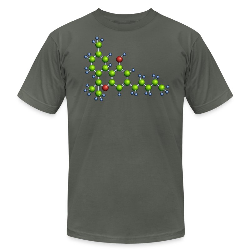 thc molecule - american apparel - Men's T-Shirt by American Apparel