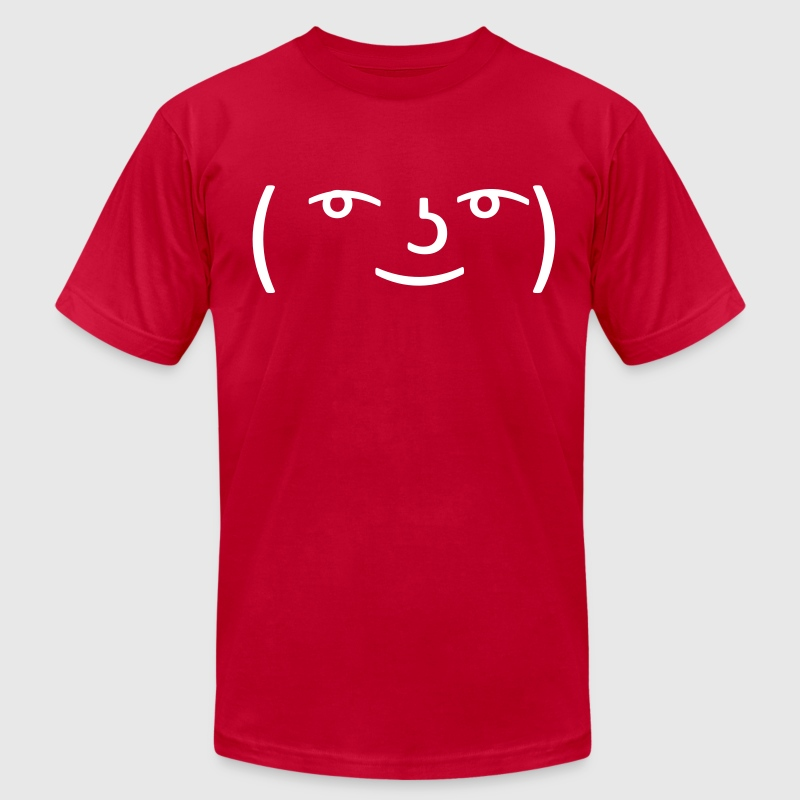 Le Lenny Face or Le Face Face hipster 4chan meme T-Shirts - Men's T-Shirt by American Apparel
