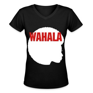 Wahala(Trouble) Tshirt - Women's V-Neck T-Shirt