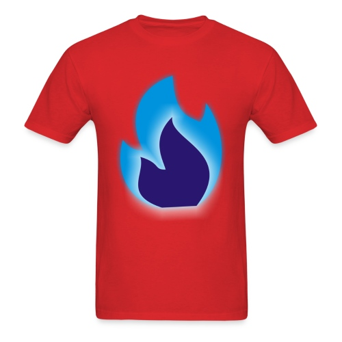 Simple BlueFlame Logo - Men's T-Shirt