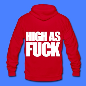 High As Fuck Zip Hoodies/Jackets - Unisex Fleece Zip Hoodie by American Apparel