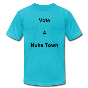 Vote 4 Nuke Town - Men's Fine Jersey T-Shirt