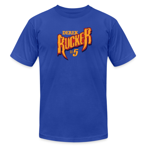 Derek Rucker hashtag - Men's Fine Jersey T-Shirt