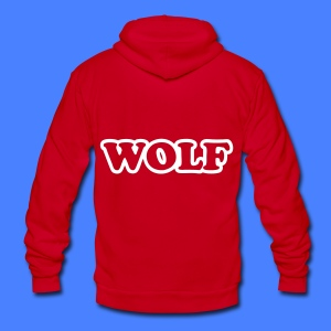 WOLF Zip Hoodies/Jackets - Unisex Fleece Zip Hoodie by American Apparel
