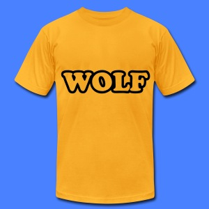 WOLF T-Shirts - Men's T-Shirt by American Apparel
