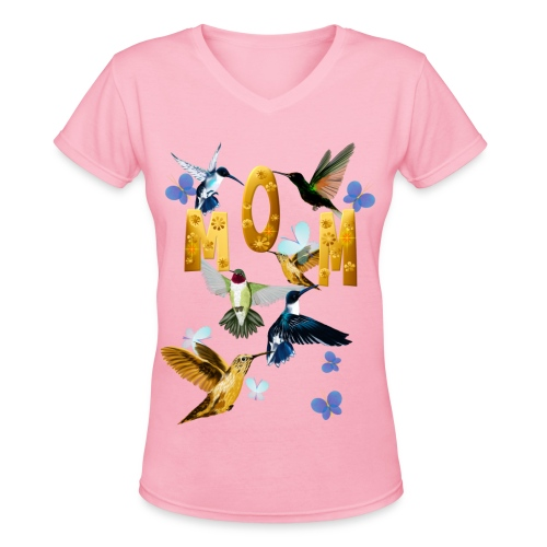 MOM-For the birds - Women's V-Neck T-Shirt