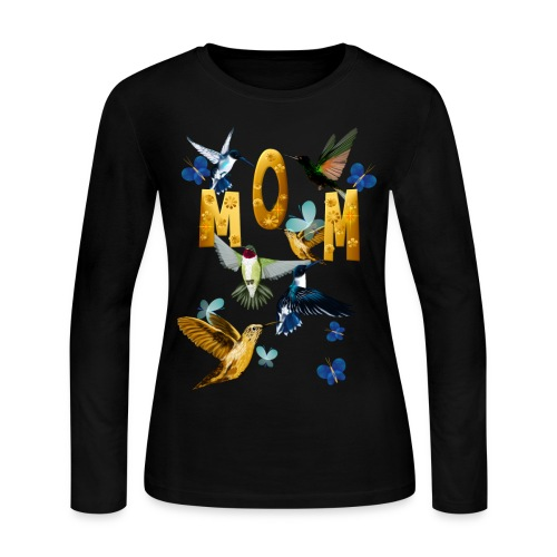 MOM-For the birds - Women's Long Sleeve Jersey T-Shirt