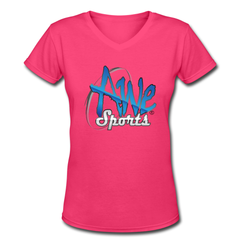 547_Awe-Sports.png - Women's V-Neck T-Shirt
