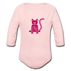 Catbot - Pink - Long Sleeve Baby Bodysuit