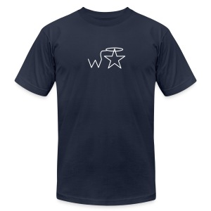Men'sl White Logo S-3X Wranglerstar - Men's Fine Jersey T-Shirt