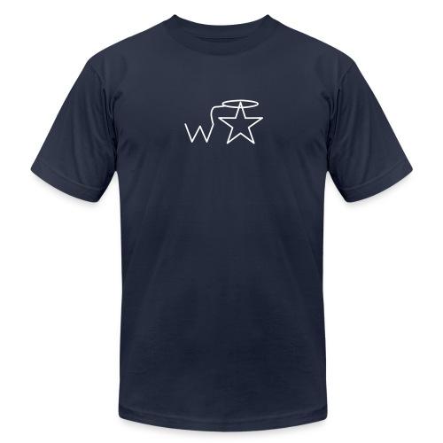 Men'sl White Logo S-3X Wranglerstar - Men's Jersey T-Shirt