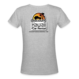 Womens DHCR logo top - Two Logos - Women's V-Neck T-Shirt