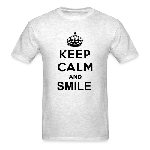 Keep Calm and Smile - Men's T-Shirt