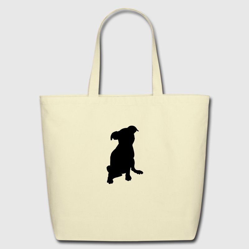 puppy silhouette Bags & backpacks - Eco-Friendly Cotton Tote