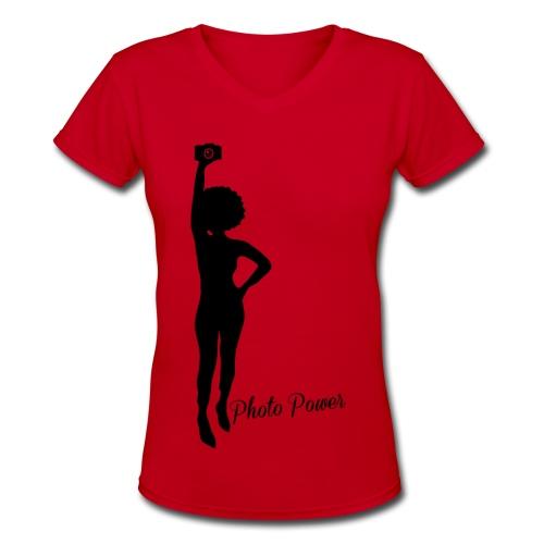 Photo Power - Women's V-Neck T-Shirt