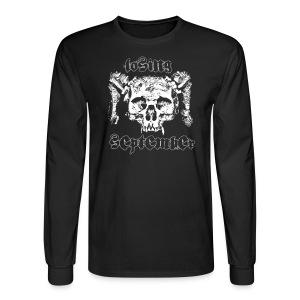 Men's Long Sleeve - Skull w/ text on back - Men's Long Sleeve T-Shirt