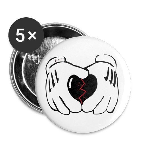 Heart Broken Button. - Small Buttons