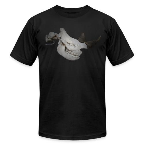 Black Rhino Skull - Men's  Jersey T-Shirt